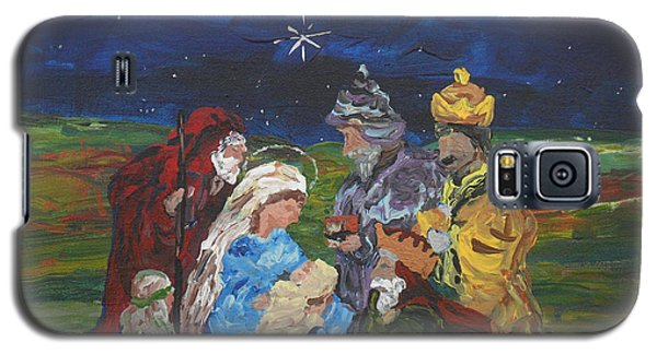 Galaxy S5 Case featuring the painting The Nativity by Reina Resto