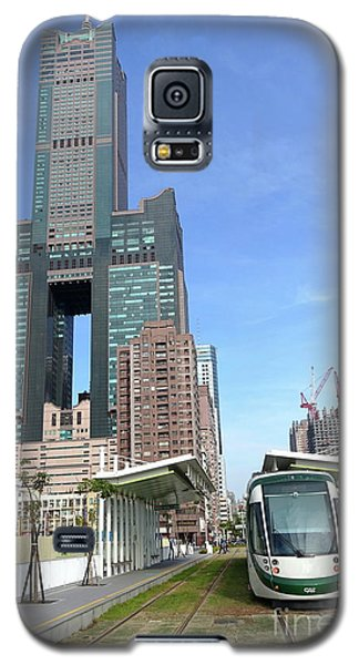Galaxy S5 Case featuring the photograph The New Kaohsiung Light Rail Train by Yali Shi