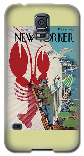 The New Yorker Cover - March 22nd, 1958 Galaxy S5 Case