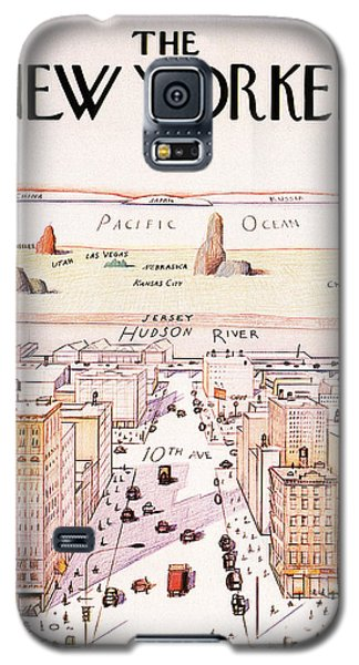 The New Yorker - Magazine Cover - Vintage Art Nouveau Poster Galaxy S5 Case
