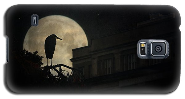 Galaxy S5 Case featuring the photograph The Night Of The Heron by Chris Lord