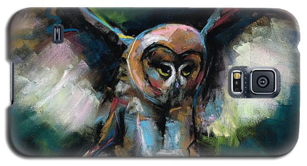 Galaxy S5 Case featuring the painting The Night Owl by Frances Marino