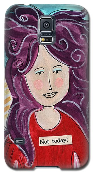 Fairy Galaxy S5 Case - The Not Today Fairy- Art By Linda Woods by Linda Woods