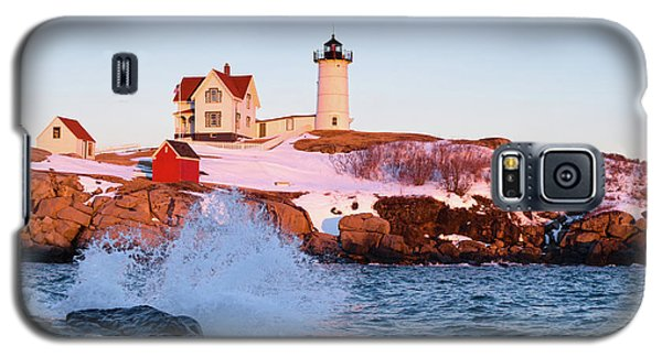 Galaxy S5 Case featuring the photograph The Nubble In Winter, Cape Neddick, Maine  -21022 by John Bald