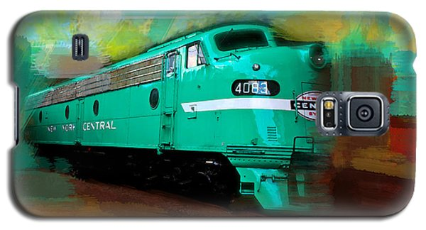 Galaxy S5 Case featuring the painting Flash II  The Ny Central 4083  Train  by Iconic Images Art Gallery David Pucciarelli