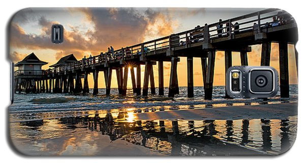 Naples Pier At Sunset Naples Florida Ripples Galaxy S5 Case