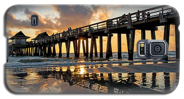 Naples Pier At Sunset Naples Florida Ripples Galaxy S5 Case