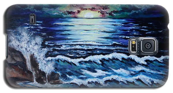 Galaxy S5 Case featuring the painting The Ocean Sings The Sky Listens by Cheryl Pettigrew