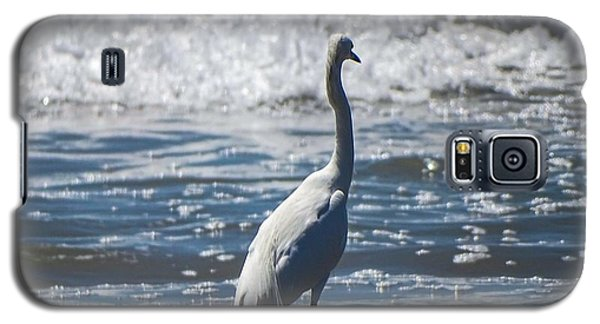 Egret And The Waves Galaxy S5 Case