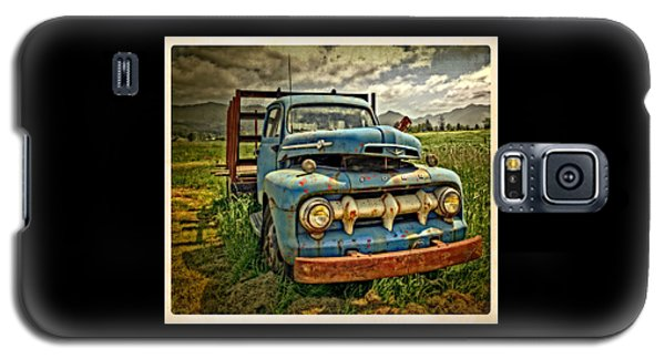 The Blue Classic 48 To 52 Ford Truck Galaxy S5 Case