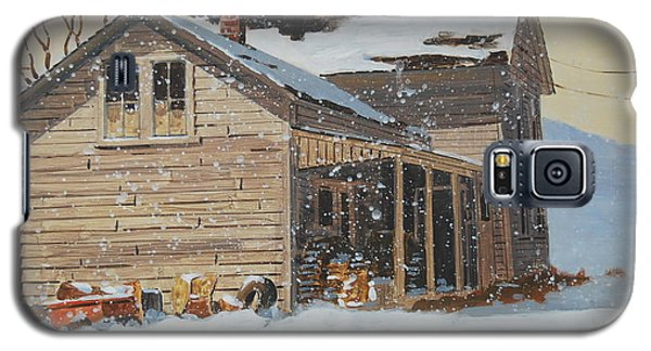 Galaxy S5 Case featuring the painting the Old Farm House by Len Stomski