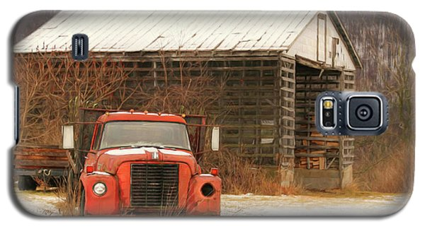 Galaxy S5 Case featuring the photograph The Old Lumber Truck by Lori Deiter
