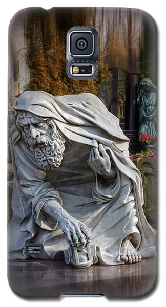 Galaxy S5 Case featuring the photograph The Old Man Of Powazki Cemetery Warsaw  by Carol Japp