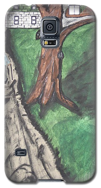 Galaxy S5 Case featuring the painting The Old Meat Cutter Griff by Jeffrey Koss
