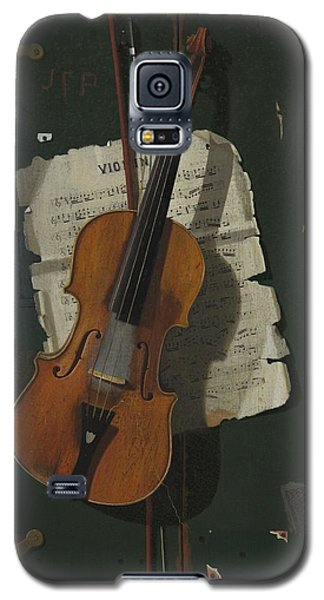 The Old Violin Galaxy S5 Case by John Frederick Peto