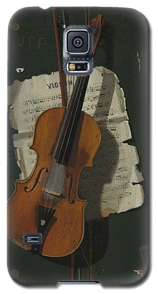 Violin Galaxy S5 Case - The Old Violin by John Frederick Peto