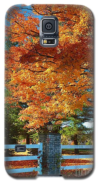 Galaxy S5 Case featuring the photograph The Old Yard Light by Robert Pearson