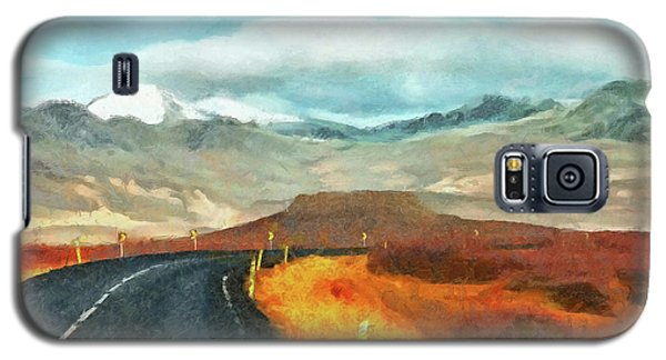 Galaxy S5 Case featuring the digital art The Open Road On The Snaefellsnes Peninsula by Digital Photographic Arts