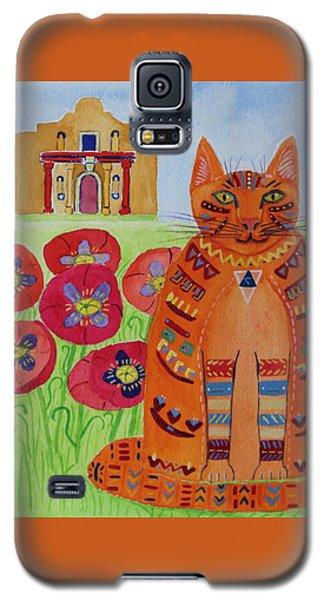 the Orange Alamo Cat Galaxy S5 Case