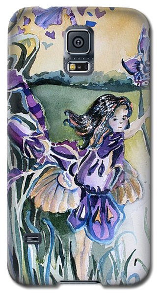 Galaxy S5 Case featuring the painting The Orchid Fairy by Mindy Newman