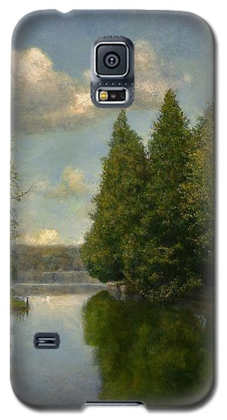 Galaxy S5 Case featuring the painting The Outlet by Wayne Daniels