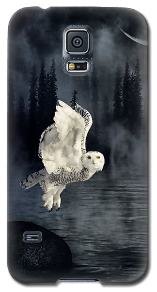 The Owl And Her Mystical Moon Galaxy S5 Case by Heather King