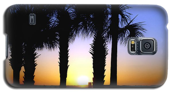 Galaxy S5 Case featuring the photograph The Palms At Sunset by Debra Forand