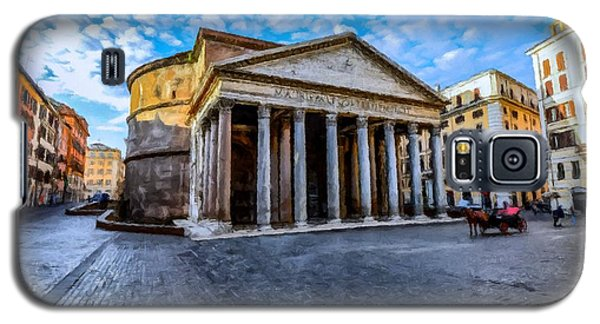 Galaxy S5 Case featuring the painting The Pantheon Rome by David Dehner