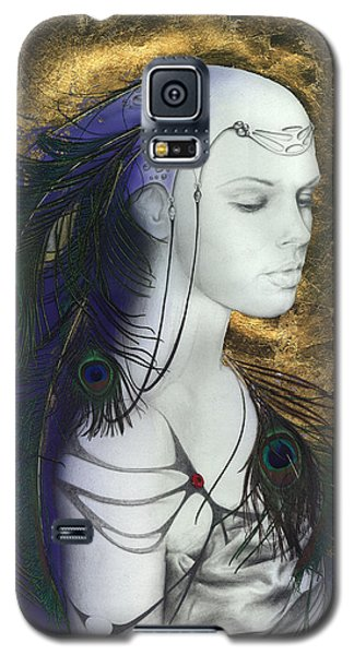Galaxy S5 Case featuring the painting The Peacock Queen by Ragen Mendenhall