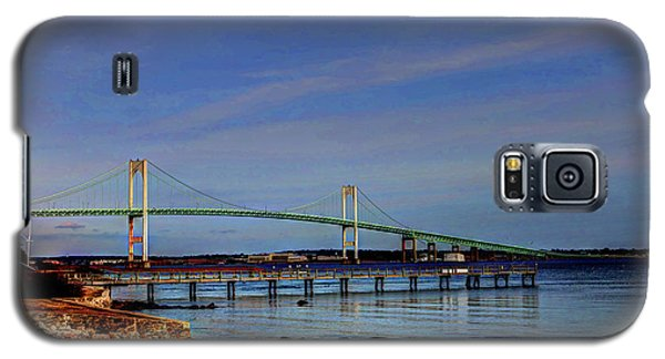 Galaxy S5 Case featuring the photograph The Pell Bridge Newport Ri by Tom Prendergast