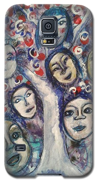 Galaxy S5 Case featuring the painting The People Tree by Mimulux patricia no No