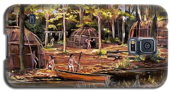 Galaxy S5 Case featuring the painting The Pequots by Nancy Griswold