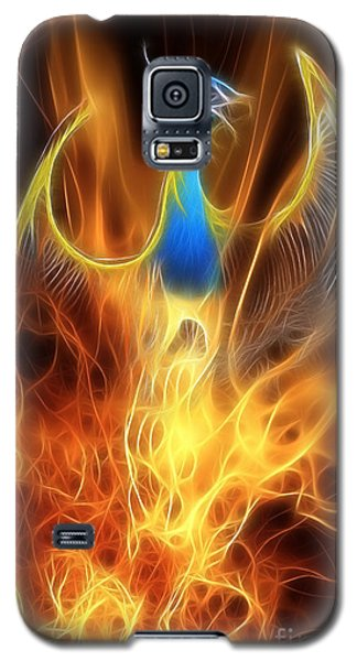 Dragon Galaxy S5 Case - The Phoenix Rises From The Ashes by John Edwards