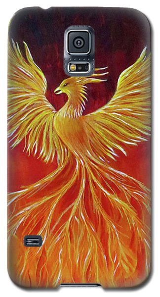 Galaxy S5 Case featuring the painting The Phoenix by Teresa Wing
