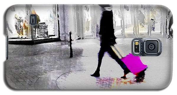 Galaxy S5 Case featuring the photograph The Pink Bag by LemonArt Photography