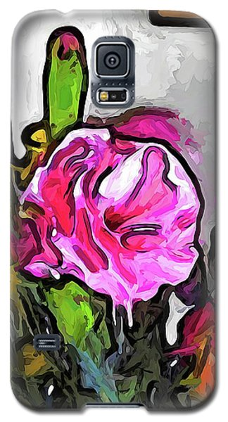 The Pink Flower With The Burgundy Buds Galaxy S5 Case