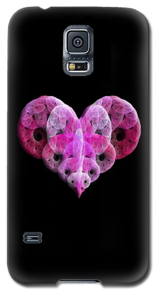 Galaxy S5 Case featuring the digital art The Pink Heart by Andee Design