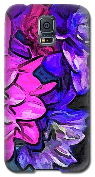 The Pink Petals With The Purple And Blue Flowers Galaxy S5 Case