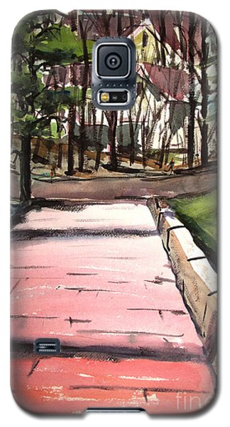 The Pink Road Off S Broadway Matted Glassed Galaxy S5 Case by Charlie Spear