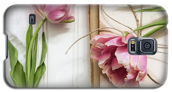 Galaxy S5 Case featuring the photograph The Pink Tulips by Kim Hojnacki