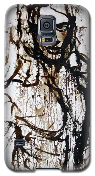 Galaxy S5 Case featuring the painting The Pioneer by Jarmo Korhonen aka Jarko