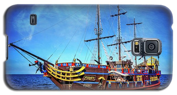 Galaxy S5 Case featuring the photograph The Pirate Ship Ustka In Sopot  by Carol Japp