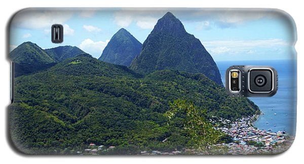 Galaxy S5 Case featuring the photograph The Pitons, St. Lucia by Kurt Van Wagner