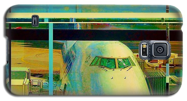 Galaxy S5 Case featuring the mixed media The Plane 2 by Andrew Drozdowicz
