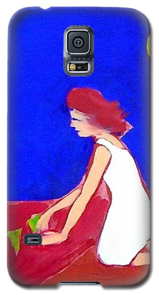 Galaxy S5 Case featuring the painting The Planting by Winsome Gunning