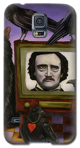 Galaxy S5 Case featuring the painting The Poe Show by Leah Saulnier The Painting Maniac