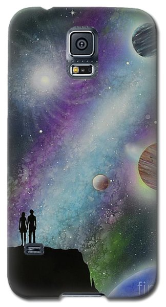 Galaxy S5 Case featuring the painting The Possibilities by Mary Scott