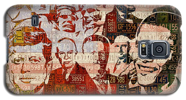The Presidents Past Recycled Vintage License Plate Art Collage Galaxy S5 Case by Design Turnpike
