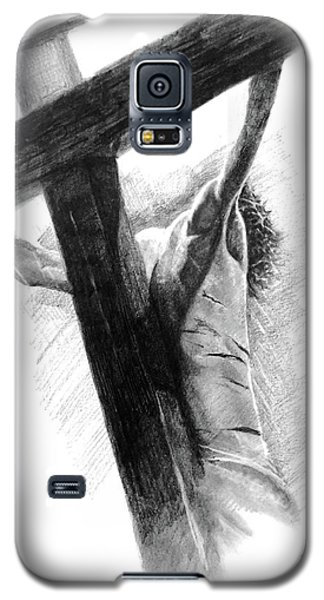 Galaxy S5 Case featuring the drawing The Promise by Noe Peralez
