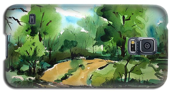 The Public Access Boat Ramp On The Little Mississinewa River Matted Glassed Framed Galaxy S5 Case by Charlie Spear